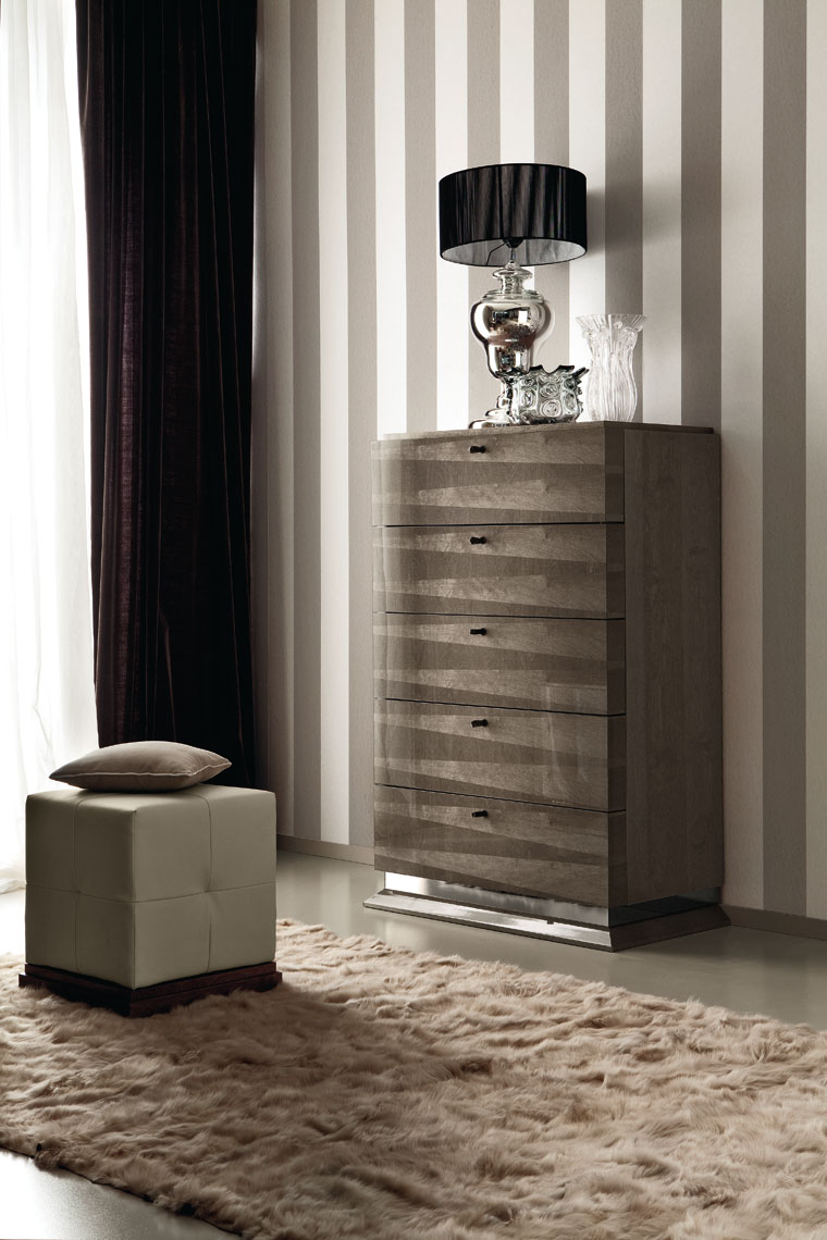 Alf Elegance Bedroom Set: ALF Monaco Bedroom Collection High Gloss Velvet Birch