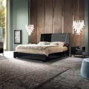 ALF Mont Noir Bedroom Collection Black High Gloss