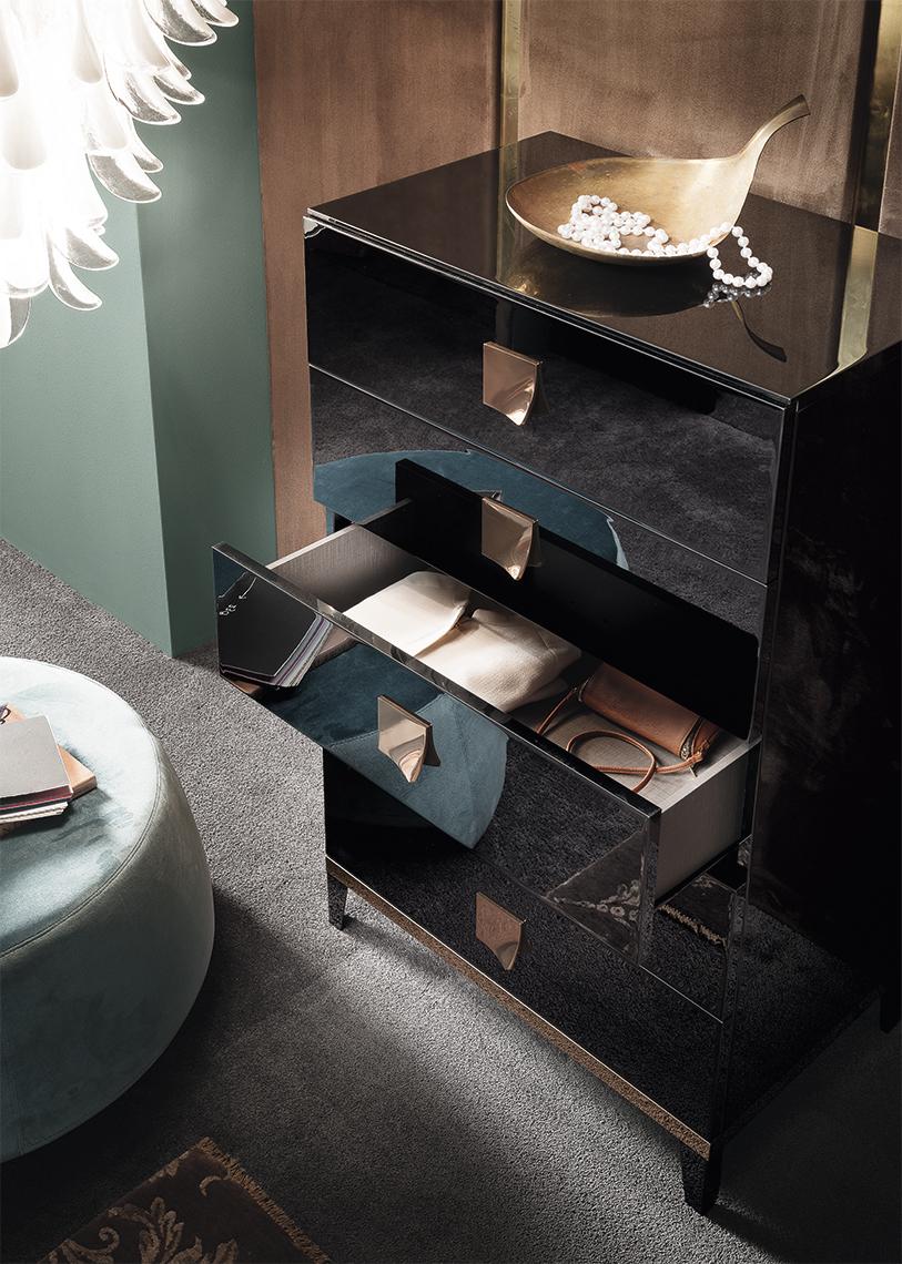 Alf Mont Noir Bedroom Collection Black High Gloss Unique