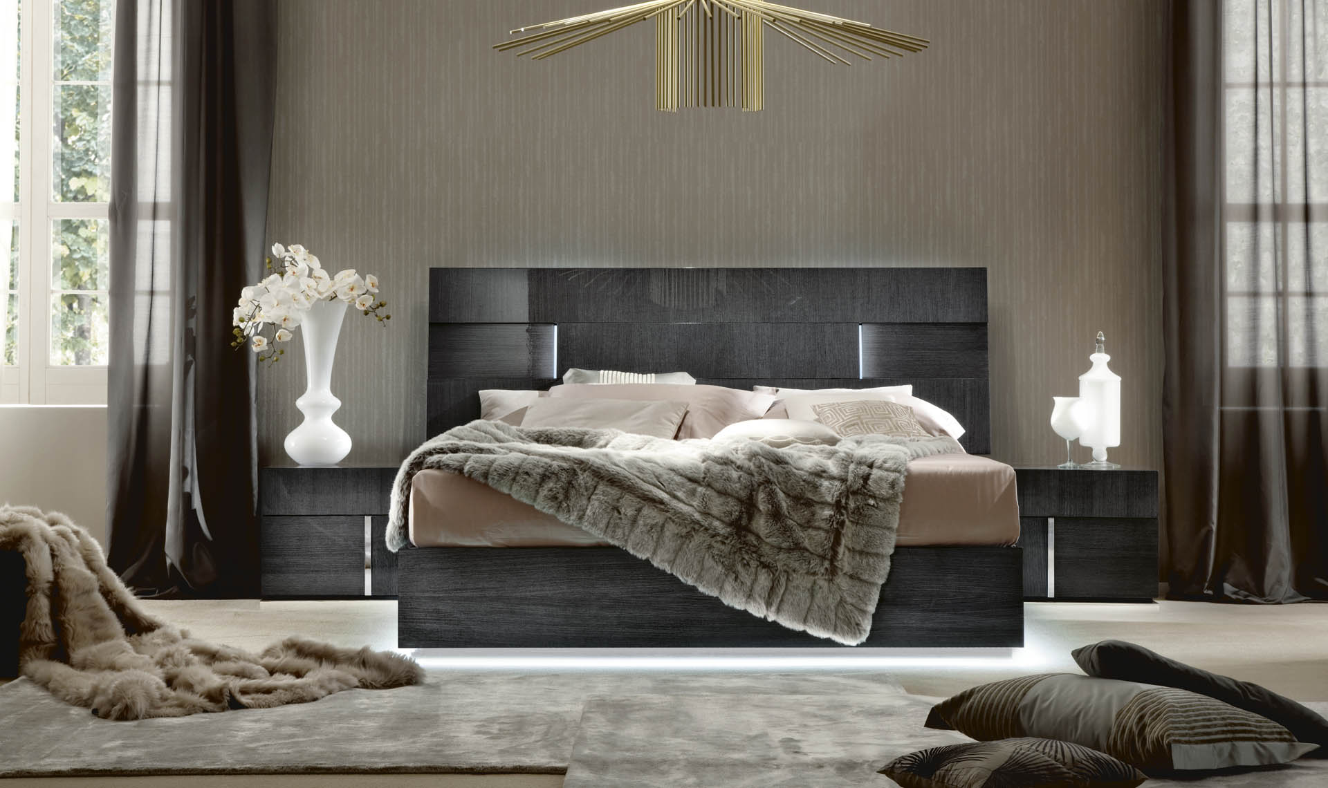 Alf Monte Carlo Bedroom Collection High Gloss Koto Finish
