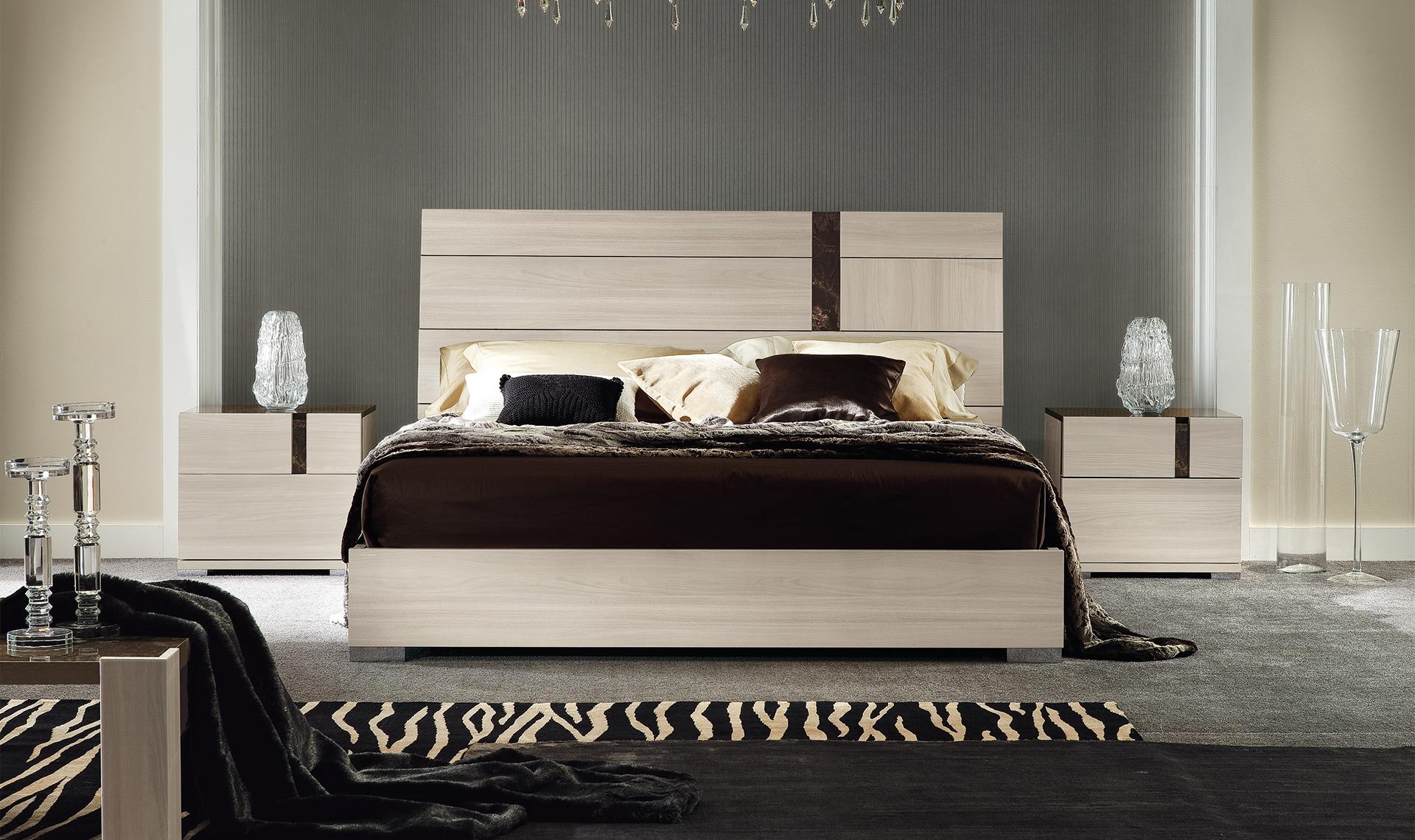 ALF Modern Teodora Bedroom 5pc Collection High Gloss