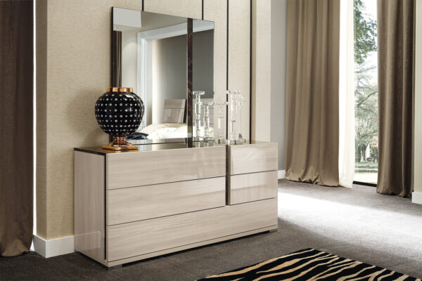 ALF Modern Teodora Bedroom 5pc Collection High Gloss