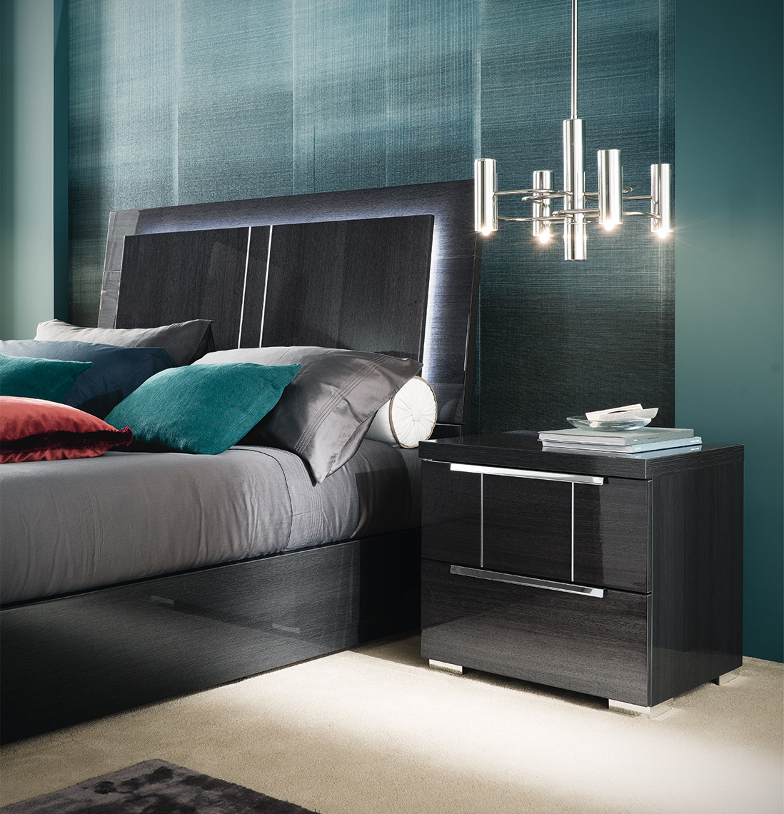 Alf Versilia Bedroom Collection Grey Koto High Gloss