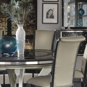 Hollywood Swank Round Table Dining