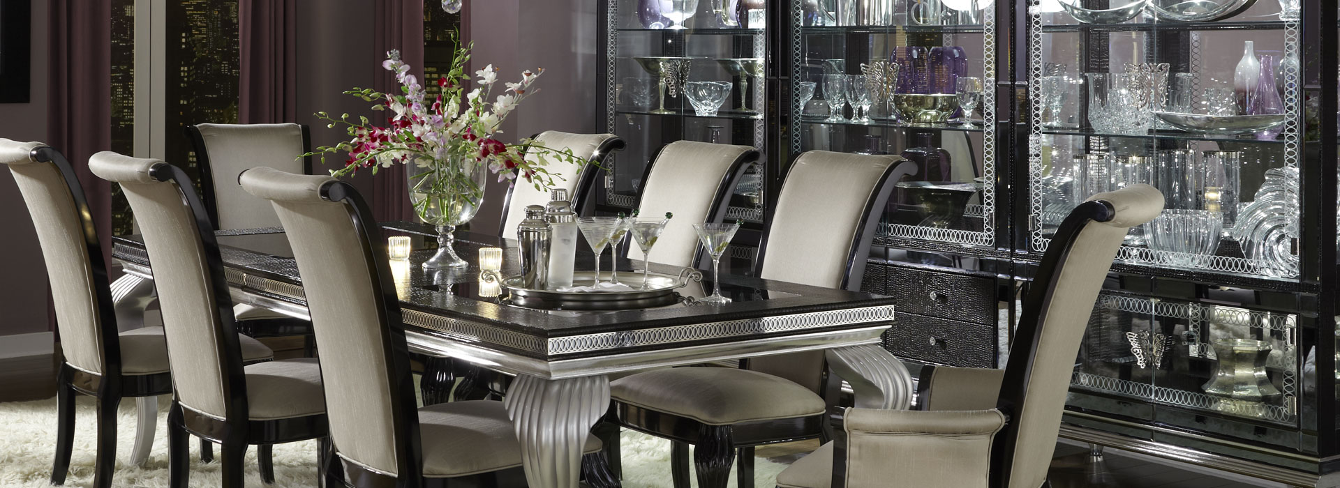 Amini Hollywood Swank Starry Night Dining Collection