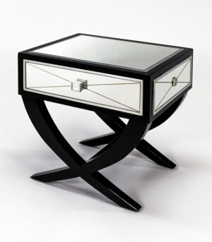 Champagne End Table With Drawer