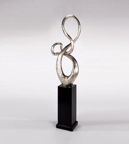 Modern Silver Floor Sculpture