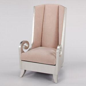 Silverleaf and Beige High Back Chair