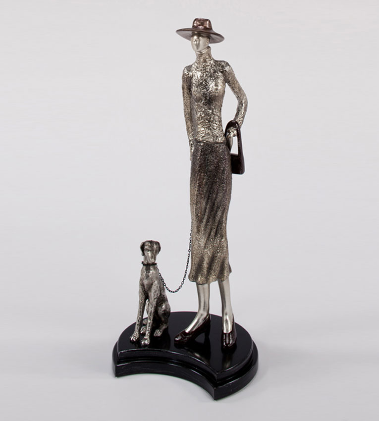 Modern My Lady And The Dog Sculpture