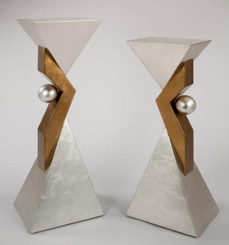 Modern Silverleaf Pedestal