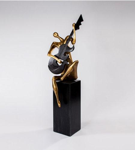 Modern Strummer Sculpture