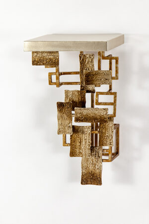 Artmax 12x23 Metal and Wood Wall Bracket