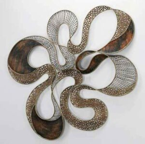 Variations of Metallic Tones 3D Wall Sculpture