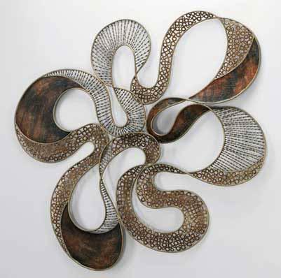 Variations of Metallic Tones 3D Wall Sculpture