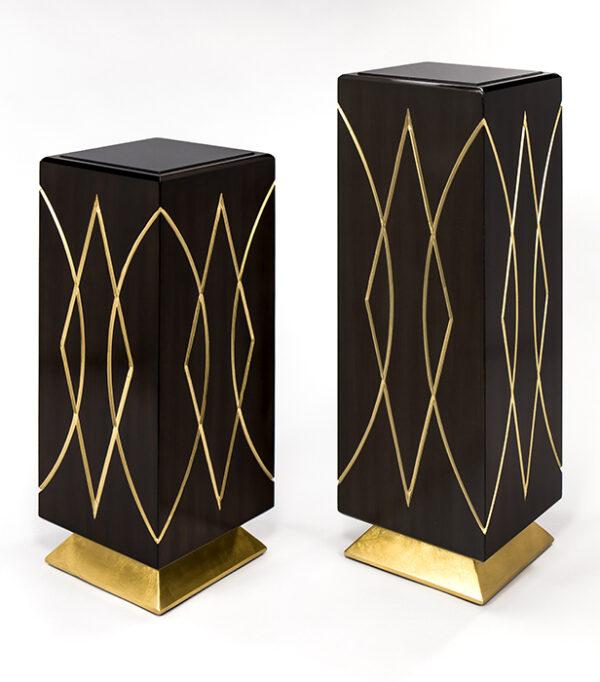 Modern Walnut Pedestal