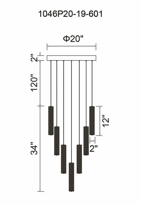 Bars LED Chandelier