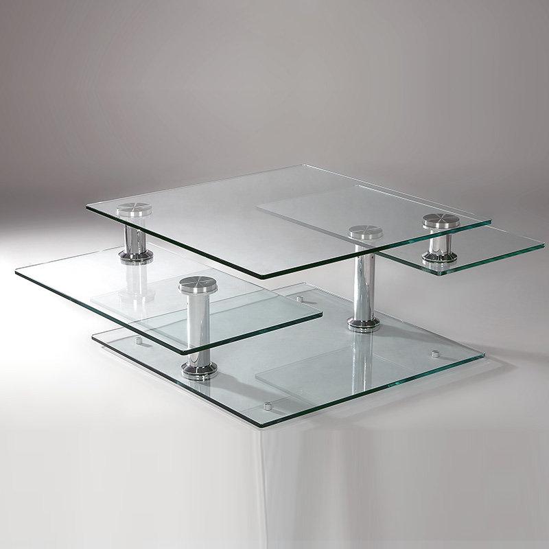 Chrome And Glass Motion Cocktail Table
