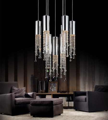 Crystal World 9 light Chandelier