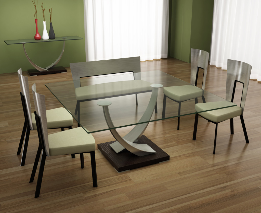 Charmant Elite Modern Tangent Dining Collection