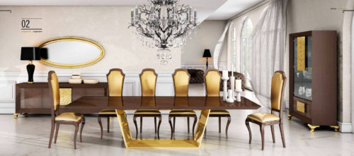 Franco Furniture Luxury 02 Dining Collection