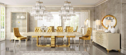 Franco Furniture Luxury 03 Dining Collection
