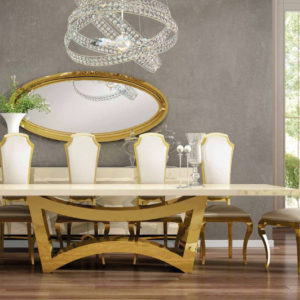 Franco Furniture Luxury 04 Dining Collection.