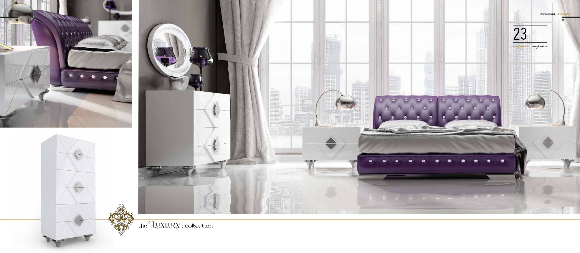 Franco Furniture Luxury 23 Bedroom Collection
