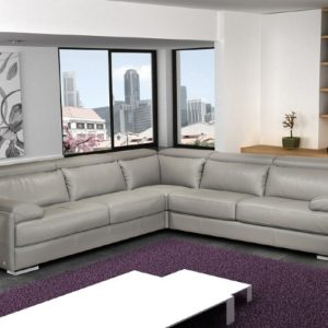 Gray Italian sectional