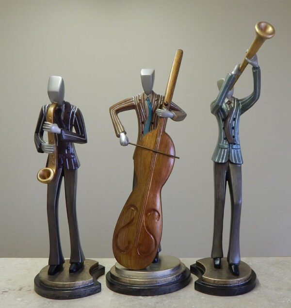 Jazz Musicians Statue Trio