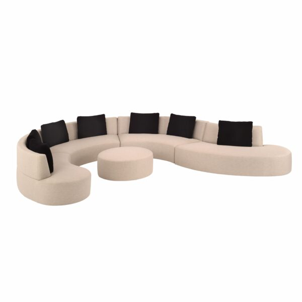 Lazar 5pc Gemini Sectional