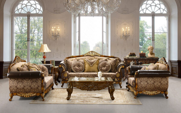 Mahogany 3Pc Luxurious Sofa Set