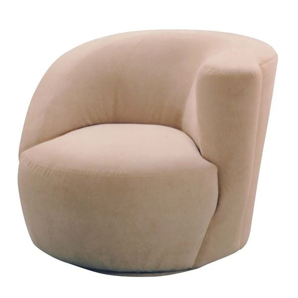 Scroll Corkscrew Swivel Chair