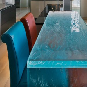 Thinkglass thermoformed glass Bar Countertops