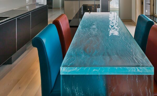 thermoformed glass Bar Countertops
