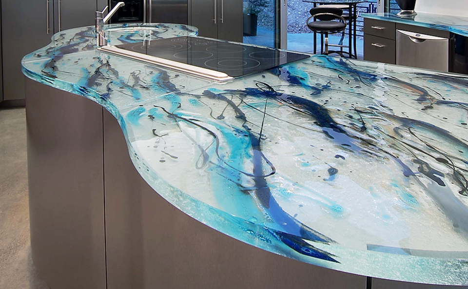 thermoformed glass Kitchen Countertop