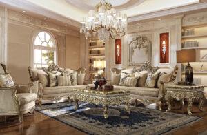 Traditional Homey Design luxurious 3 PC Sofa Set