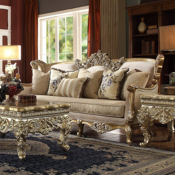 Traditional Homey Design luxurious 3 PC Sofa Set