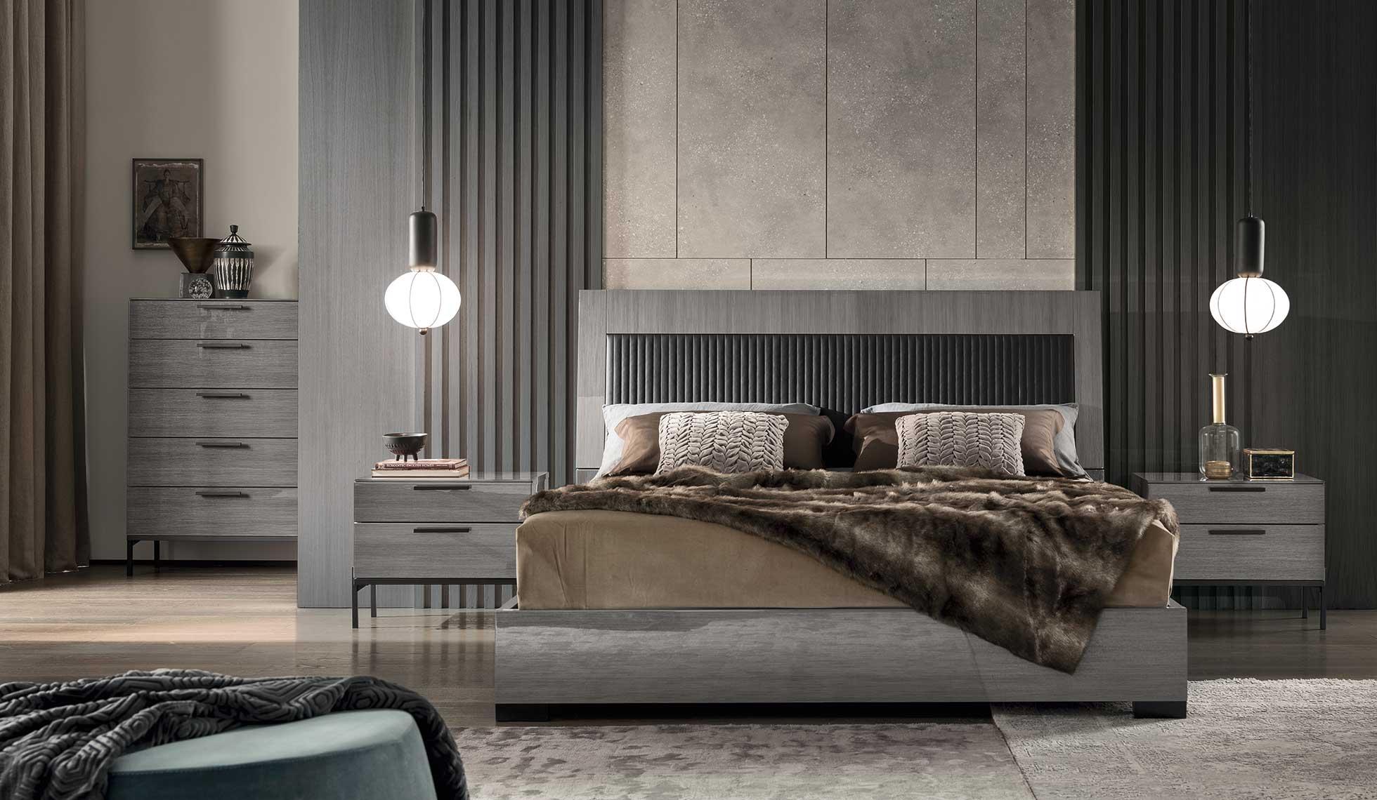 Modern Alf Italia 7pc Bedroom Set Novecento Unique Furniture