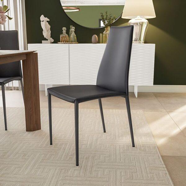 Modern Calligaris Metal Aida chair upholstered seat - CS1452