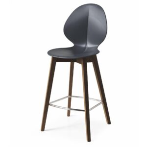 Modern Calligaris Basil Stool in regenerated leather