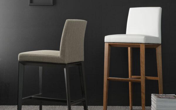 Modern Calligaris Bess Stool Upholstered wooden