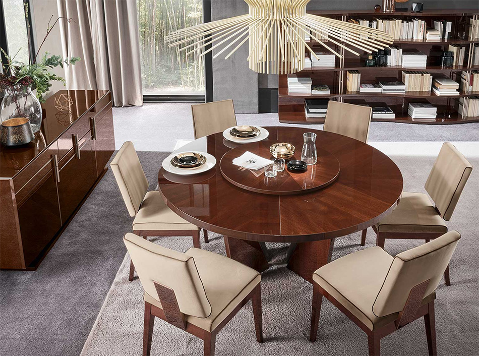 Modern 7pc Round Bellagio Dining Table By Alf Unique Furniture