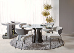 Poly round dining table