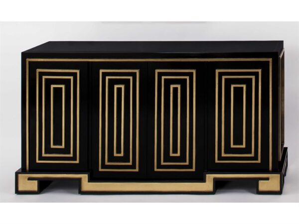 Gold & Black Console Cabinet