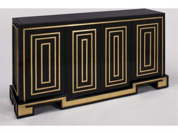 Gold & Black Console Cabinet