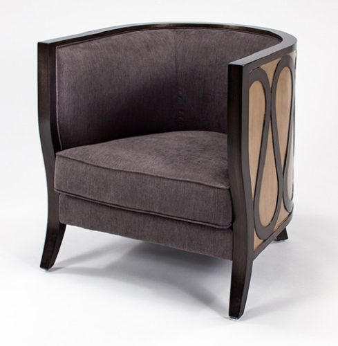Gray and Penny Metallic Chair