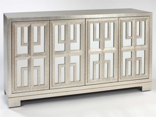 Light Champagne Brush Console Cabinet