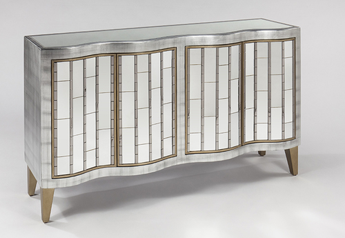 Mirrored Gold Console Cabinet