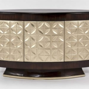 Sable Champagne Console Cabinet