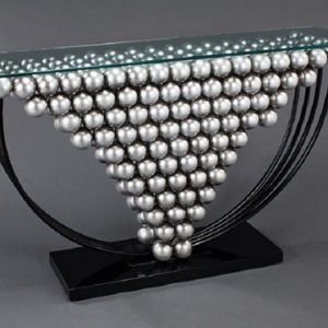 Silver Ball Console Table